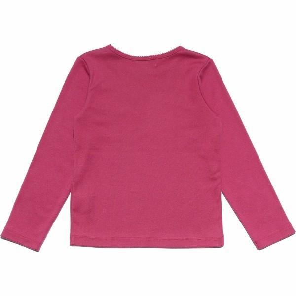 子供服 女の子 Tシャツ 長袖 普段着 通学着 リボンつき微起毛素材 ショッキングピンク ブルー 120cm 130cm 140cm 150cm 160cm アイアムマリリン IamMarilyn|moononnon|07