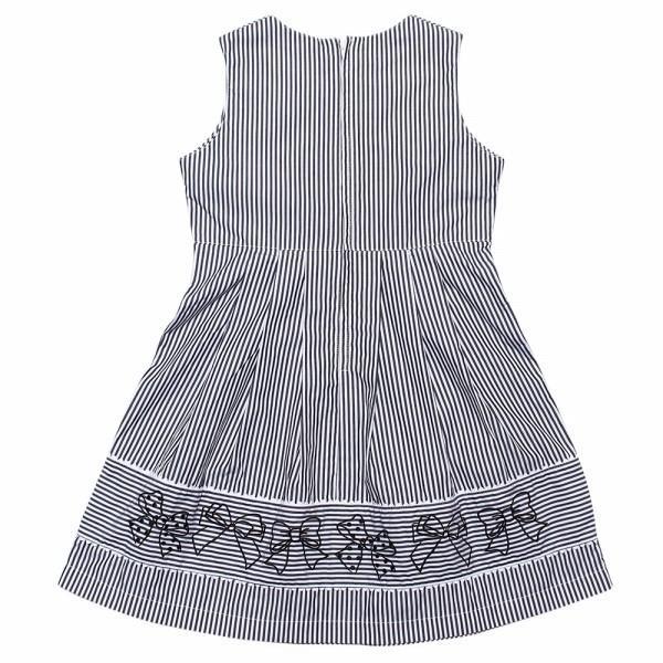 子供服 女の子 ワンピース・ジャンパースカート ノースリーブ 綿100%ストライプ柄リボン刺繍切り替えAラインギャザー アイアムマリリン IamMarilyn|moononnon|07