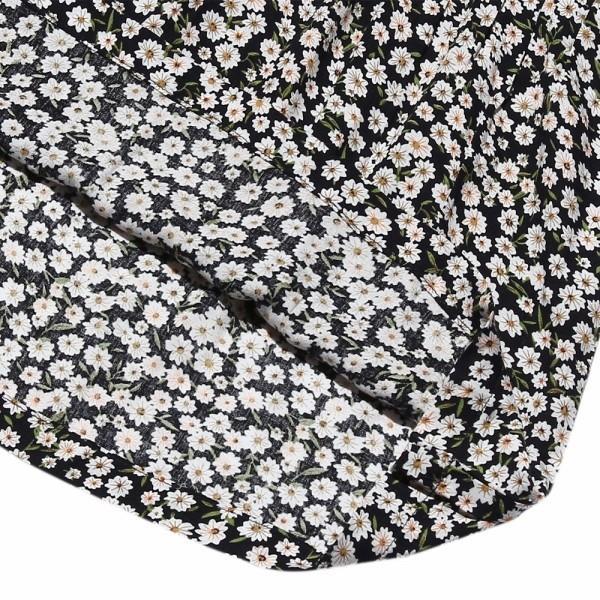 子供服 女の子 Tシャツ 長袖 普段着 通学着 花柄キャミソール切り替え重ね着風デザイン Aライン ネイビー オフホワイト アイアムマリリン IamMarilyn moononnon 09