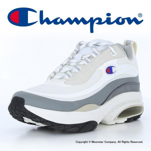 チャンピオン 21年春  Championメンズ/レディーススニーカーCPFA005ASTROCUSHホワイト/グレイ