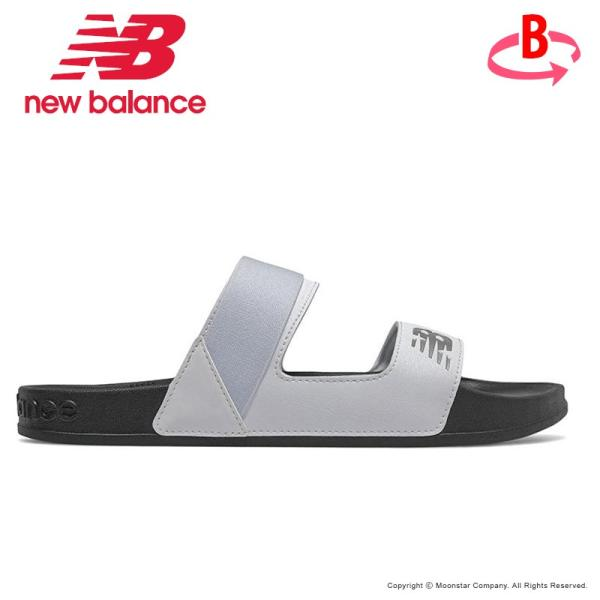 ニューバランス セール newbalanceレディースサンダルNB202SLIDEDWBブラック/ホワイトスリッパつっかけ