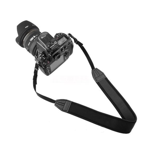 カメラストラップ 一眼レフ ミラーレス シンプル 黒 Canon Nikon OLYMPUS SONY EOS Kiss M X7i X8i X9i X10 D3400 D5600