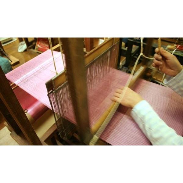 御召アカスリ 富岡の絹 ピンク先染めバージョン フェイスサイズ mori-hide 05