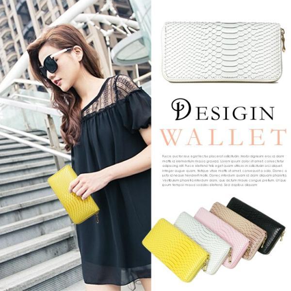 ラウンド長財布  かっこいいパイソン柄です カラーをお選びください|morika|03