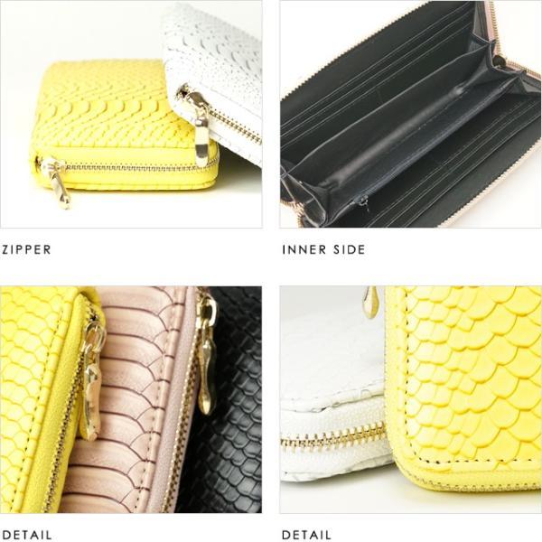 ラウンド長財布  かっこいいパイソン柄です カラーをお選びください|morika|04
