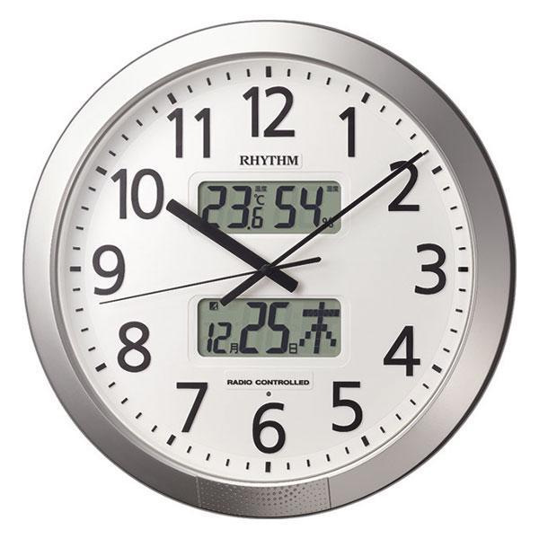 設定した時間にチャイムを鳴らす壁掛け時計 リズム 電波時計 4FN404SR19 文字入れ対応、有料 morimototokeiten