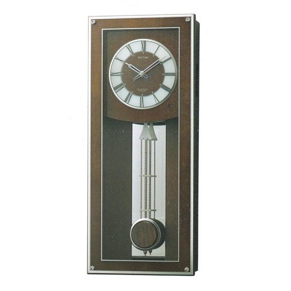 振り子 柱時計 電波時計 リズム RHYTHM プライムフィールド 壁掛け時計 4MN522RH06 取り寄せ品 morimototokeiten