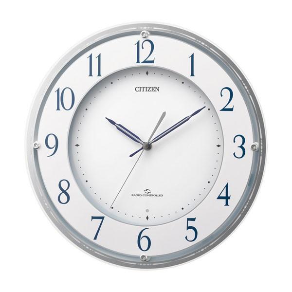 シチズン 電波時計 壁掛け時計 4MY823-003 掛時計 CITIZEN 文字入れ対応、有料 取り寄せ品|morimototokeiten