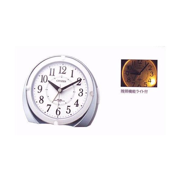 電子音 目覚時計 シチズン 電波時計 ライト付 目覚まし時計 CITIZEN 4RL431-N04  ネムリーナマロンF 文字入れ対応、有料 取り寄せ品|morimototokeiten