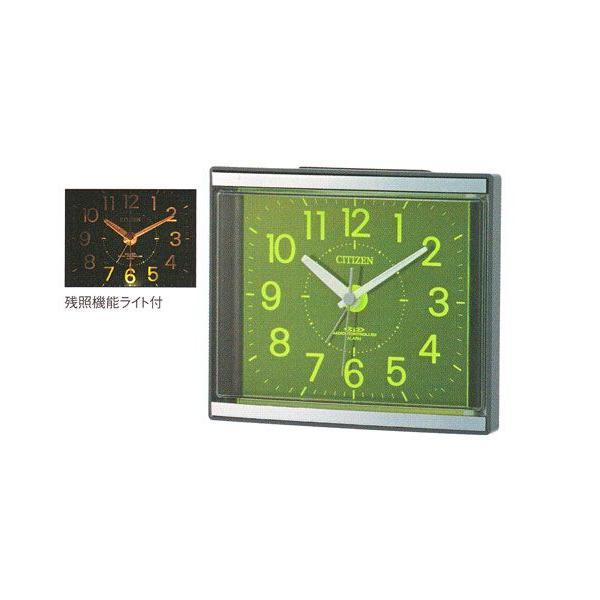 電子音 目覚時計 シチズン 電波時計 ライト付 目覚まし時計 CITIZEN 4RL434-008  ジール 文字入れ対応、有料 取り寄せ品|morimototokeiten