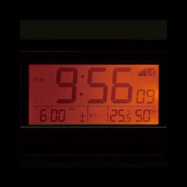 名入れ時計 文字入れ付き 電子音 シチズン 電波時計 ライト付 CITIZEN デジタル 目覚まし時計 8RZ161-006 取り寄せ品|morimototokeiten|02