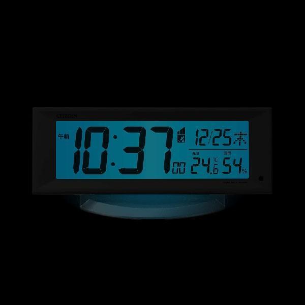 電子音 シチズン 電波時計 ライト付 CITIZEN デジタル 目覚まし時計 8RZ202-003 文字 名入れ対応、有料 取り寄せ品|morimototokeiten|02