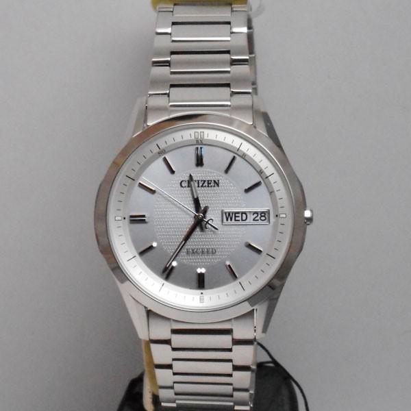 文字 名入れ 刻印 10文字付 シチズン エクシード ソーラー電波時計 AT6030-60A メンズ腕時計 EXCEED CITIZEN 取り寄せ品 代金引換不可 morimototokeiten 10