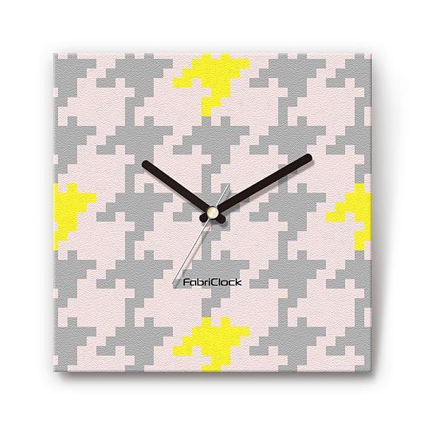 大千鳥 をデザインしたファブリック(布地)掛け時計 四角 受注生産品|morimototokeiten