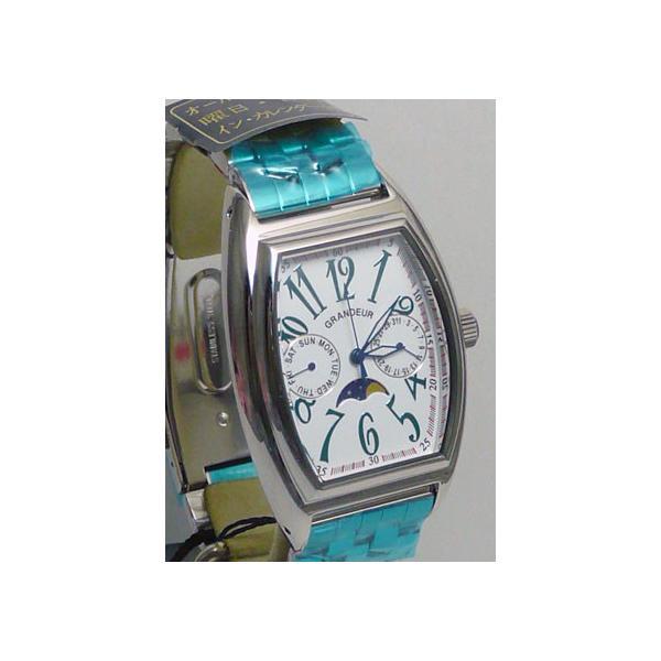 グランドール 男性用腕時計 GSX018W1 紳士用 時計 トノー型 GRANDEUR 名入れ刻印対応、有料|morimototokeiten|02