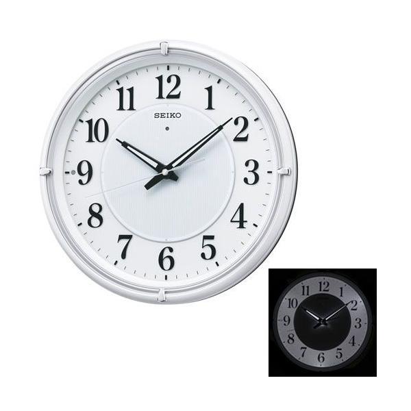 暗くなると光る壁掛時計 掛け時計 電波時計 KX393W セイコー SEIKO 文字入れ対応、有料 取り寄せ品|morimototokeiten