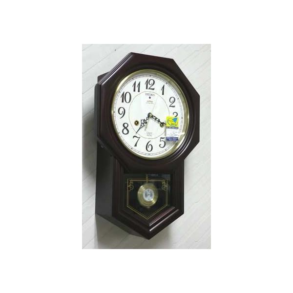 木枠の柱時計 セイコー チャイムで報知 電波時計 壁掛け時計 RQ205B 文字入れ対応、有料 取り寄せ品 morimototokeiten 02