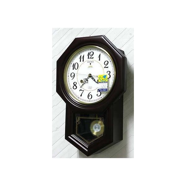 木枠の柱時計 セイコー チャイムで報知 電波時計 壁掛け時計 RQ205B 文字入れ対応、有料 取り寄せ品 morimototokeiten 03