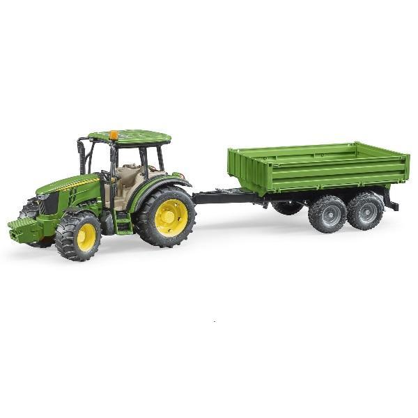 車おもちゃ農業トラクターBRUDERブルーダーJD5115Mトラクター&グリーントレーラー02108