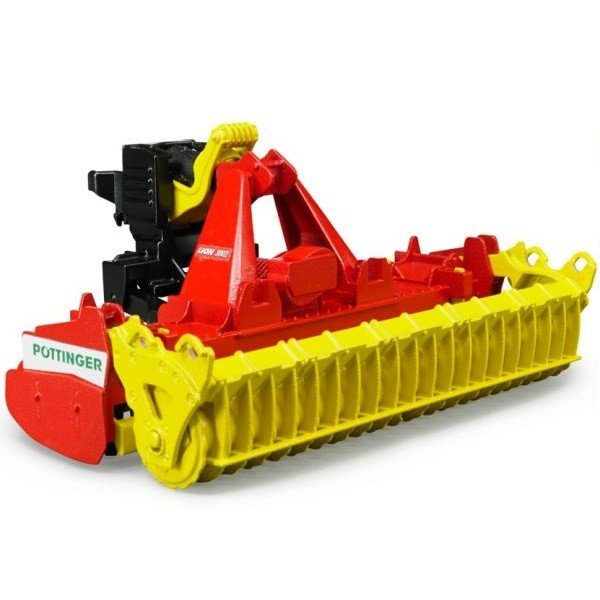 車おもちゃ農業トラクターBRUDERブルーダーPottingerLion3002ロータリーハロー02346