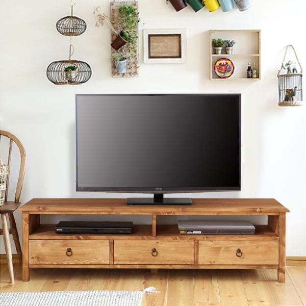今なら送料無料。パイン材をオイルで仕上げたアンティーク風150cm幅カントリーテレビ台 オリス mam/nora. 150ローボード/テレビボード