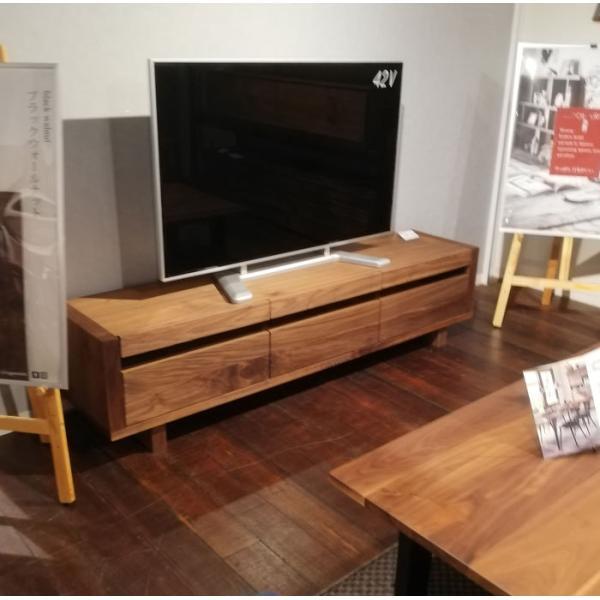 オイル仕上げの木目がきれいな高級感ある節ありウォールナット材日本製150cm・180cm・200cm幅のテレビボード オーク材