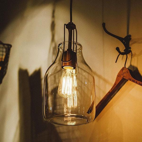 今なら送料無料。ボトルをそのままランプにしたレトロテイストのガラスのペンダントランプ 天井照明 1灯 LED対応 INTERFORM インターフォルム Olite オリテLT-1607 ボトルBO LT-1610 LT-1608 LT-1609
