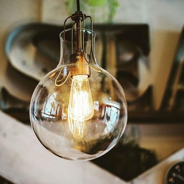 今なら送料無料。おしゃれなカフェにあるようなシンプルデザインのアンティークなガラスのペンダントランプ 天井照明 1灯 LED対応 INTERFORM インターフォルム Olite オリテLT-1607 RO LT-1610 LT-1608 LT-1609