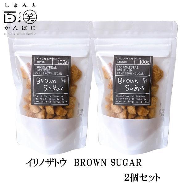 イリノザトウ BROWN SUGAR(ブロックLサイズ) 2個セット しまんと百笑かんぱに 高知 四万十 サトウキビ 黒糖 黒砂糖 黄金色 お菓子作り ドメキ