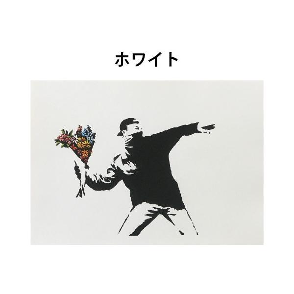 バンクシー BANKSY Love is in the Air デザインポスター アート A4サイズ 2タイプ|moriyama-print|03