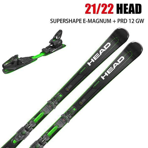 2022 HEAD SUPERSHAPE E-MAGNUM + PRD12 GW スーパーシェイプ イーマグナム 21-22 ヘッド スキー板 金具付