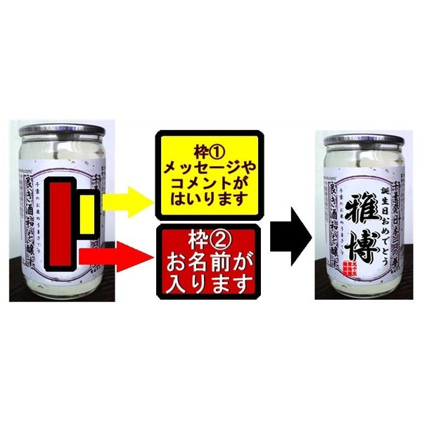 30本別々でも作成無料!! 世界に一つオリジナルラベル カップ酒|moriyasyuzo|02
