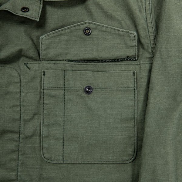 WORKERS/ワーカーズ Fatigue Shirt Mod, ファティーグシャツ 8 oz Reversed Sateen|morleyclothing|04