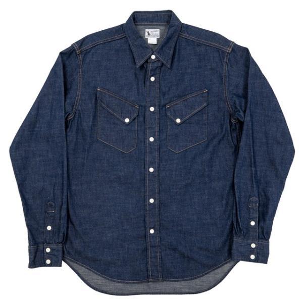 WORKERS/ワーカーズ Western Shirt 8 oz Indigo denim ウエスタンシャツ OW|morleyclothing