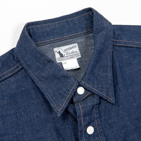 WORKERS/ワーカーズ Western Shirt 8 oz Indigo denim ウエスタンシャツ OW|morleyclothing|03