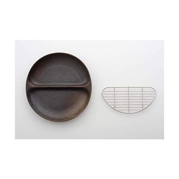 アイトー(Aito)大皿ブラック/シルバープレート/約奥22.5×幅23.8×高2.8cm網/約奥18.8×幅9.3×高1.0c