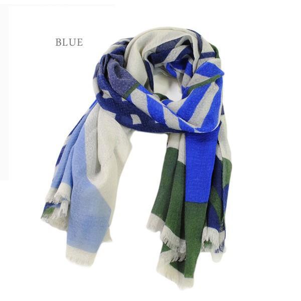 スカーフ マフラー Mapoesie マポエジー ストール K-EPURE VERMILLON 56 BLUE 60  レディース