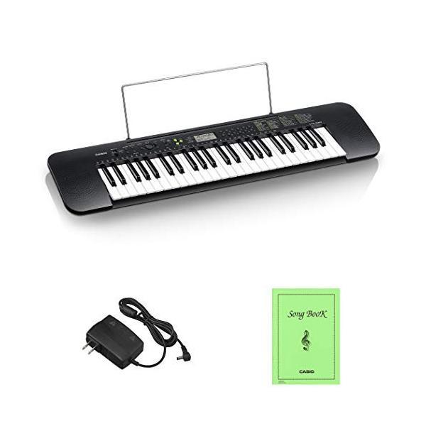 カシオ(CASIO)電子キーボード Casiotone CTK-240 スリム&コンパクト 49鍵盤 100音色 100リズム AC電源と乾