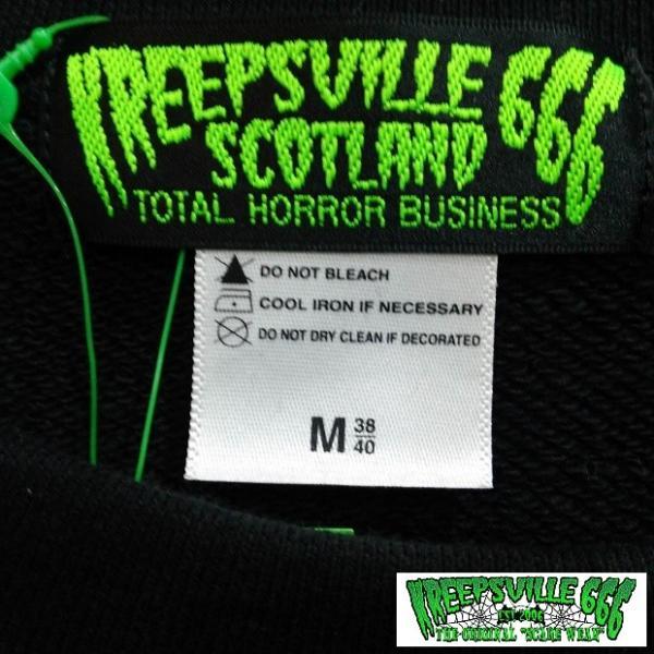 KREEPSVILLE666 ロゴプリントトレーナー クリープスヴィル666 トップス プルオーバー BLACK/GREEN|moshpunx|05