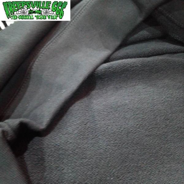KREEPSVILLE666 ロゴプリントトレーナー クリープスヴィル666 トップス プルオーバー BLACK/GREEN|moshpunx|06