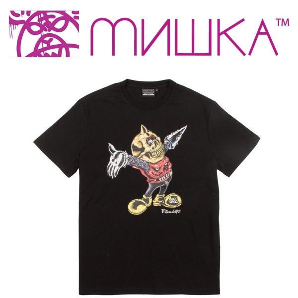 MISHKA LAMOUR MASCOT T-SHIRT ミシカ マスコット Tシャツ BLACK|moshpunx