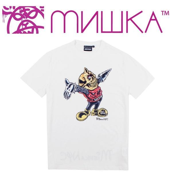 MISHKA LAMOUR MASCOT T-SHIRT ミシカ マスコット Tシャツ WHITE|moshpunx