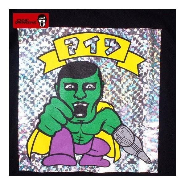 PUNKDRUNKERS シールTEE ASH パンクドランカーズ Tシャツ|moshpunx|04