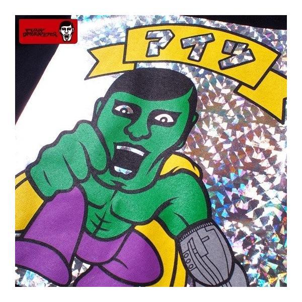 PUNKDRUNKERS シールTEE ASH パンクドランカーズ Tシャツ|moshpunx|05