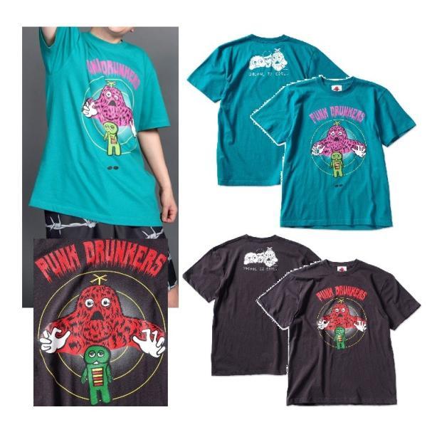 PUNKDRUNKERS x ガチャピン・ムック コントロールTEE パンクドランカーズ|moshpunx