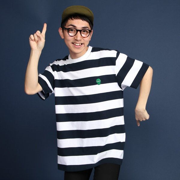 PUNKDRUNKERS 目ぱっちりボーダーTEE / 太 パンクドランカーズ|moshpunx|11