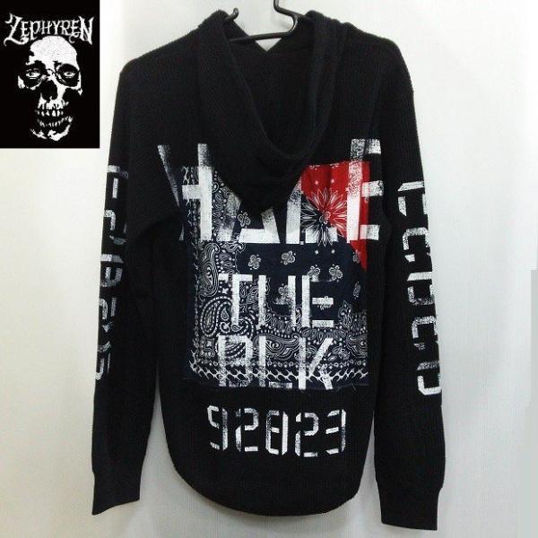 ZEPHYREN WAFFLE PARKA -Inhale the black- BLACKxNAVY ゼファレン プルオーバー moshpunx 02