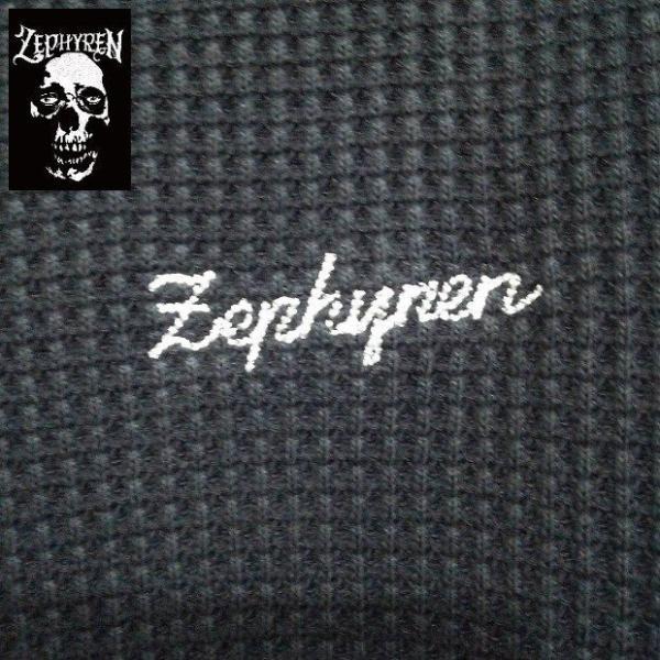 ZEPHYREN WAFFLE PARKA -Inhale the black- BLACKxNAVY ゼファレン プルオーバー moshpunx 04