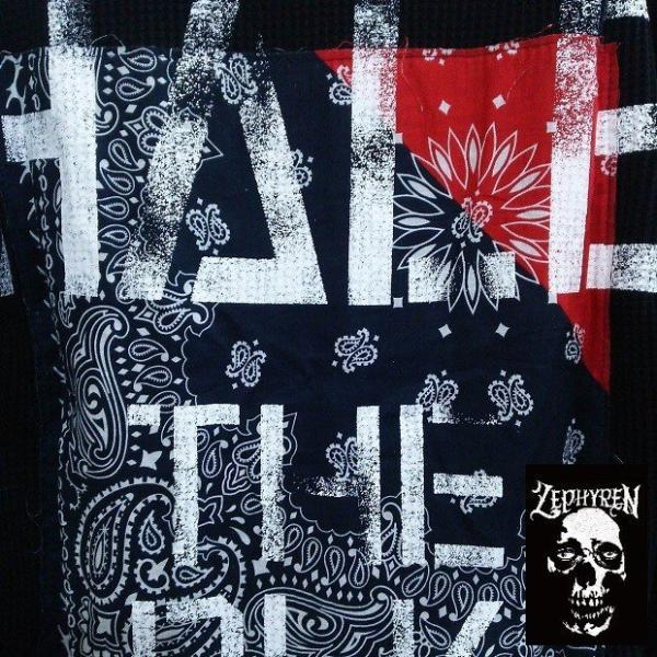 ZEPHYREN WAFFLE PARKA -Inhale the black- BLACKxNAVY ゼファレン プルオーバー moshpunx 05