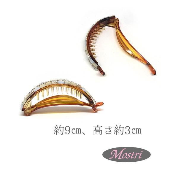 日本製 バナナクリップハーフ ストーンアーチ まとめ髪 ヘアアクセサリー 髪留め レディス|mostri|03
